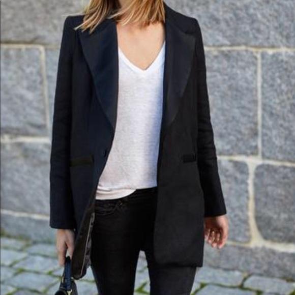 a5aa86040f1f Emerson Fry Jackets & Coats   Black Linen Tux Jacket 12   Poshmark